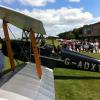 Biplane prop swing