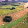 Crop circle aerial view