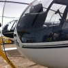 R44 in hangar