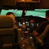 Canadair RJ700 simulator cockpit