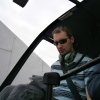R44 pilot in cockpit