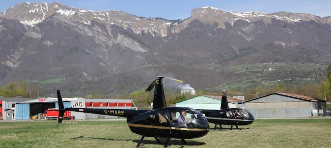 school R44 helicopter in Luzern